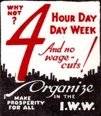 Een poster van de IWW